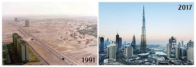 Dubaj wczoraj i dziś. Te zdjęcia robią wrażenie