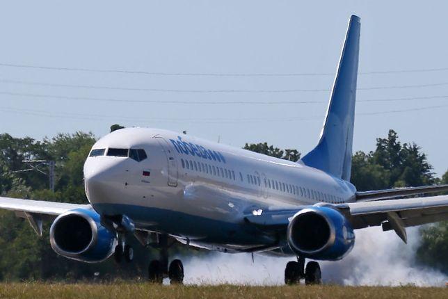 Samolot należący do linii Pobeda Airlines