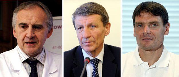 Od lewej: Marian Zembala, Andrzej Czerwiński, Adam Korol