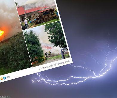 Niszczycielska burza na Dolnym Śląsku. Dom stanął w ogniu