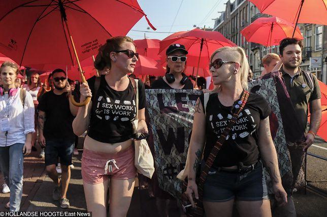 Protest pracowników seksualnych w Amsterdamie. Domagają się zwiększenia bezpieczeństwa