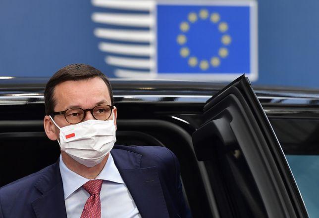 Premier Mateusz Morawiecki podczas ostatniego dnia lipcowego szczytu w Brukseli.