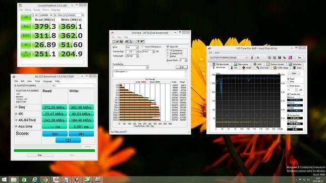 Wyniki kilku benchmarków z kontrolerem SATA Intela