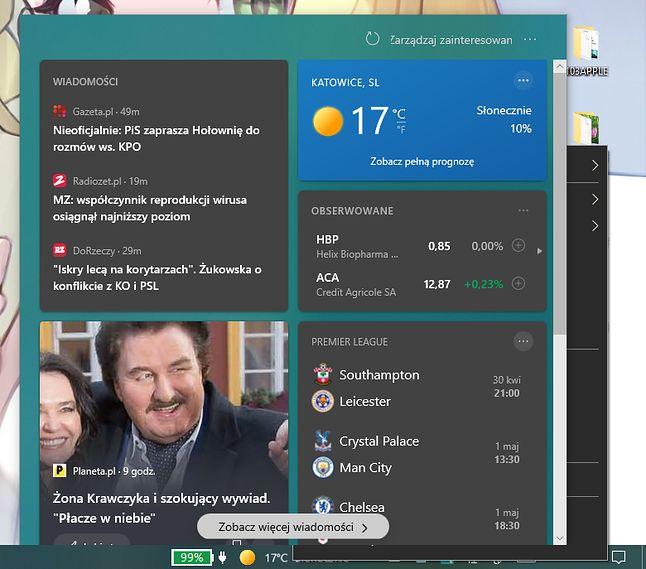 Uważne oko dojrzy, że Windows próbuje tu rysować dwa elementy jednocześnie w tym samym miejscu