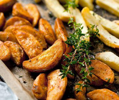 Pieczone ziemniaki z czosnkiem i kminkiem