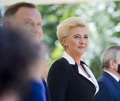 Agata Kornhauser-Duda bryluje na gali. Jej kreacja to strzał w dziesiątkę
