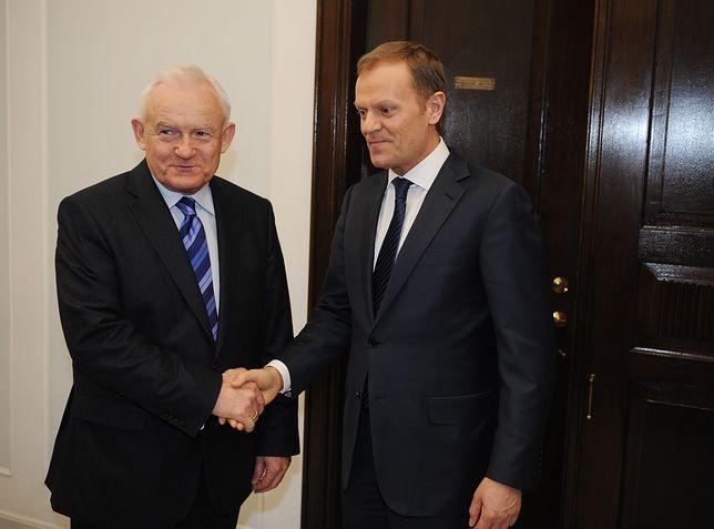 Wybory prezydenckie 2020. Leszek Miller (były szef SLD) oraz Donald Tusk (Przewodniczący Rady Europejskiej) - zdj. arch.