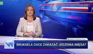 """""""Wiadomości"""" wchodzą na wyższy poziom absurdu. Krytykują TVN za """"antymięsny lobbing"""""""