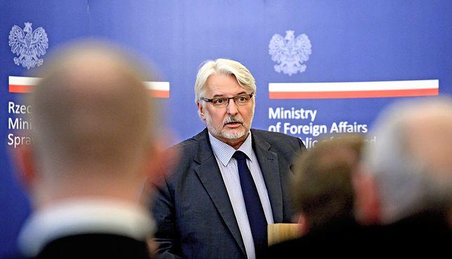 Witold Waszczykowski w trakcie przemówienia