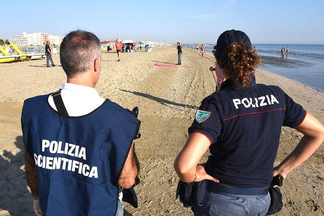 Policja na miejscu zdarzenia w Rimini