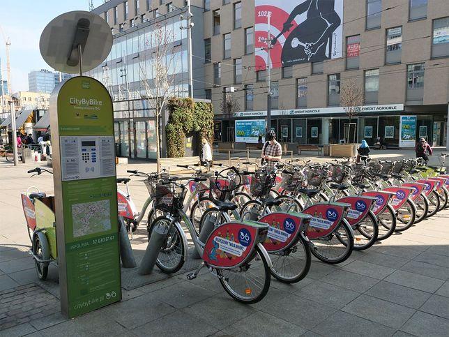 Katowice. Można już wypożyczać rowery.