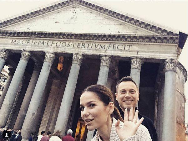 Paulina Sykut-Jeżyna z mężem, Piotrem