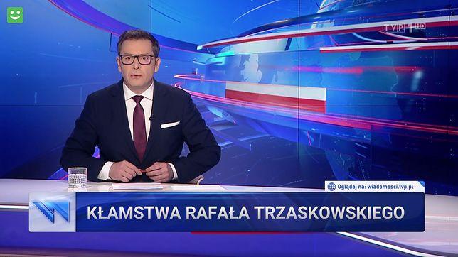 """""""Wiadomości"""" znowu przypomniały swoim widzom, że """"Rafał Trzaskowski kłamie"""""""