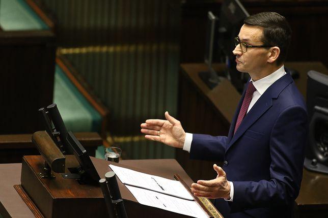 Premier Mateusz Morawiecki podczas expose