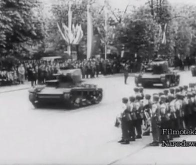 Defilada 3 maja 1939 w Alejach Ujazdowskich