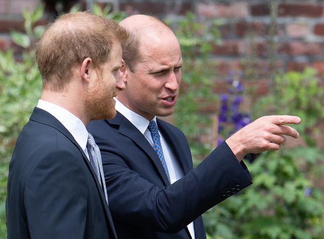 William i Harry na odsłonięciu pomnika księżnej Diany