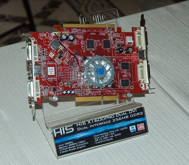 HIS X1600 Pro Dual DVI Dual Interface