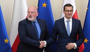 Mateusz Morawiecki przedstawił Fransowi Timmermansowi listę zmian, wprowadzonych w Polsce w ostatnich miesiącach