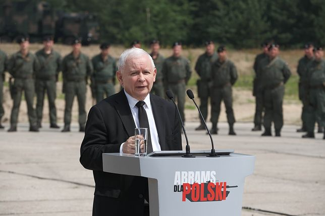 Jarosław Kaczyński zapowiedział zakup amerykańskich czołgów
