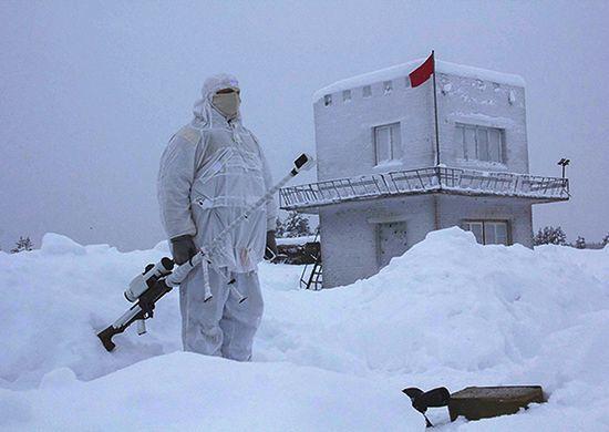 Żołnierz w Arktyce