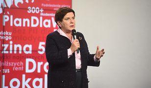 Wybory parlamentarne 2019. Beata Szydło na konferencji prasowej w siedzibie PiS