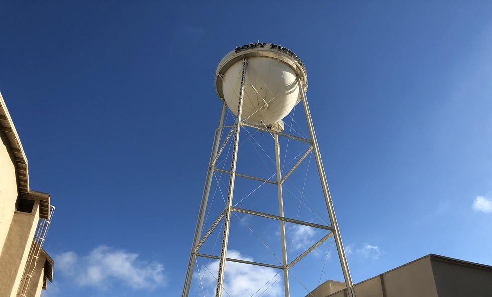 Wieża ciśnień w studiu filmowym Sony
