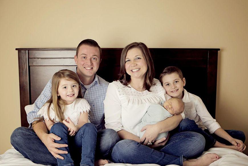 Ashley Hallford z rodziną