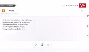 Jak zamówić jedzenie z Asystentem Google?