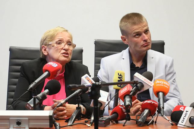 Tomasz Komenda  oraz jego mama Teresa Klemańska