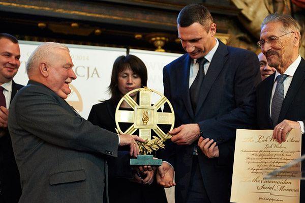 Witalij Kliczko: nagroda Lecha Wałęsy - odznaczeniem dla milionów Ukraińców