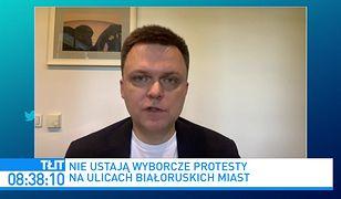 """Białoruś. Szymon Hołownia wzywa polski rząd do działania. """"To mogą być ostatnie wybory, które udało się Łukaszence sfałszować"""""""