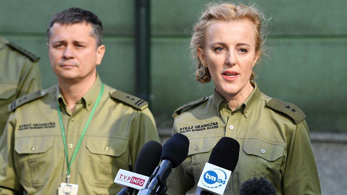 Anna Michalska jako rzeczniczka Straży Granicznej wzbudza oburzenie dziennikarzy