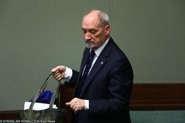 Antoni Macierewicz w Sejmie, 8 grudnia 2017 r.