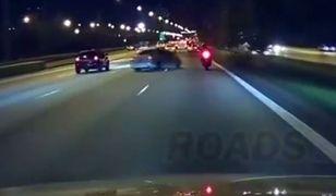 #dziejesiewmoto: motocyklista cudem unika kolizji