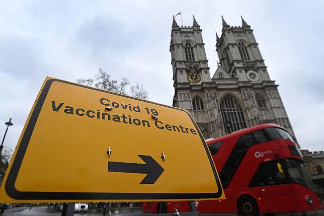 Wielka Brytannia. Szczepienia na COVID-19 w Opactwie Westminsterskim