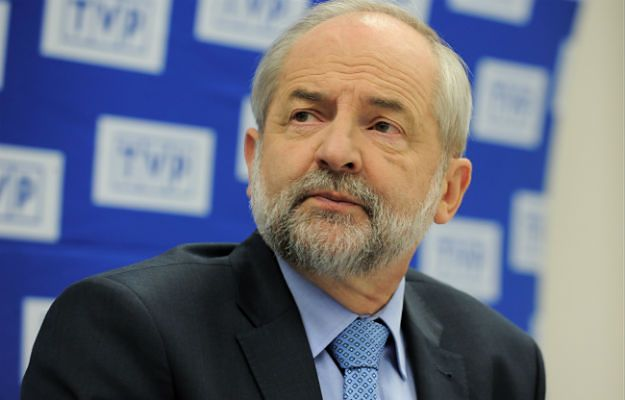 Juliusz Braun podczas konferencji podsumowującej jego kadencję