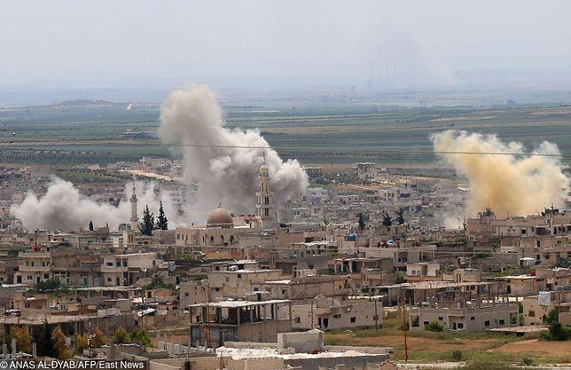 Zniszczone miasto Qunaitra na granicy Syrii i Izraela, niedaleko wzgórz Golan.