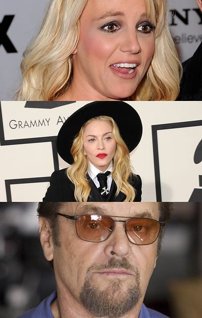 Britney Spears, Madonna, Jack Nicholson