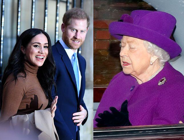 Królowa zaskoczona decyzją Harry'ego i Meghan