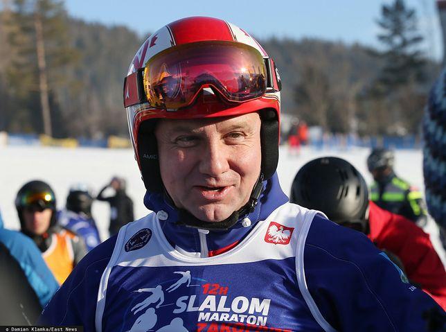 Andrzej Duda od lat przyjeżdża na stok narciarski do Wisły