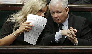 Małgorzata Wassermann i prezes Jarosław Kaczyński
