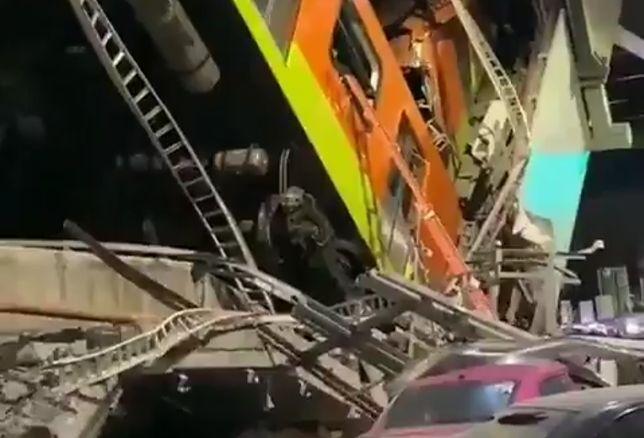 Tragedia w Meksyku. Zawalił się wiadukt kolejowy, są ofiary