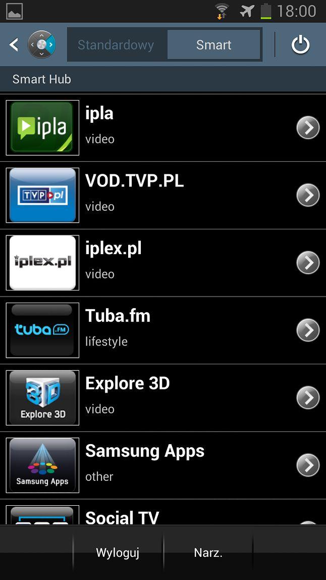 Uruchamianie aplikacji ze Smart Huba