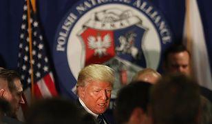 Donald Trump na spotkaniu z Polonią