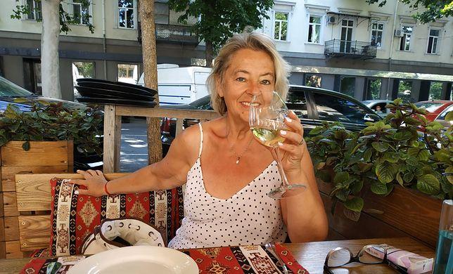 Jolanta Banach podczas urlopu w Odessie