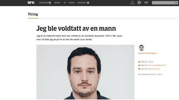 """Norweski polityk został zgwałcony przez uchodźcę. Teraz czuje się """"winny"""" z powodu jego deportacji."""