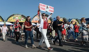 Białoruś. Protest w Mińsku