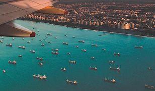 Lądowanie samolotu na lotnisku Singapur-Changi