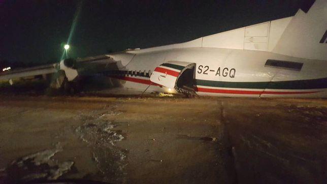 Bombardier Dash 8 Q400 wypadł z pasa startowego w Rangunie (Birma)