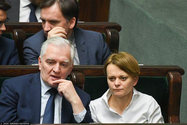 Wicepremier Jarosław Gowin i minister rozwoju Jadwiga Emilewicz